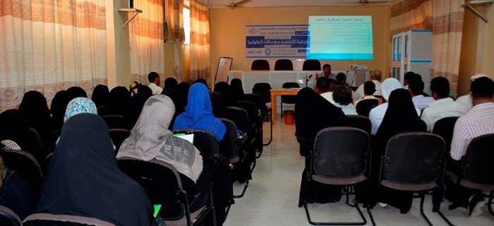 ورشة تدريبية حول كيفية التعامل مع حالات الكوليرا والحميات
